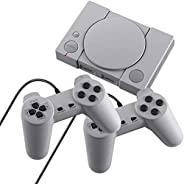 HJKPM Plug and Play Game Consoles, Retro 8-Bit PS1 Mini Video TV Playstation Can Double Simultaneous Game and