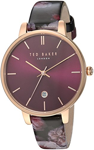 Ted Baker Women's Kate Stainless Steel Quartz Watch with Leather Strap, Multi, 14 (Model: TEC0025005