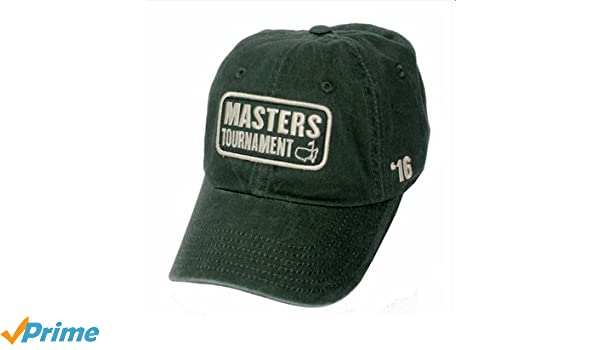 cb2a0ec1611 Amazon.com  Masters 2016 Vintage Green Caddy Hat  Sports Collectibles