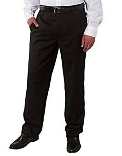 Kirkland Signature Men's Wool Gabardine Flat Front Dress Slack Pant, Black, Size (Wool Gabardine)