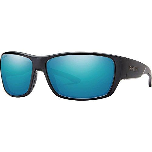 Smith Forge Sunglasses - Polarized Matte Black/Polarized Blue Mirror, One - Case Sunglass Smith Optics