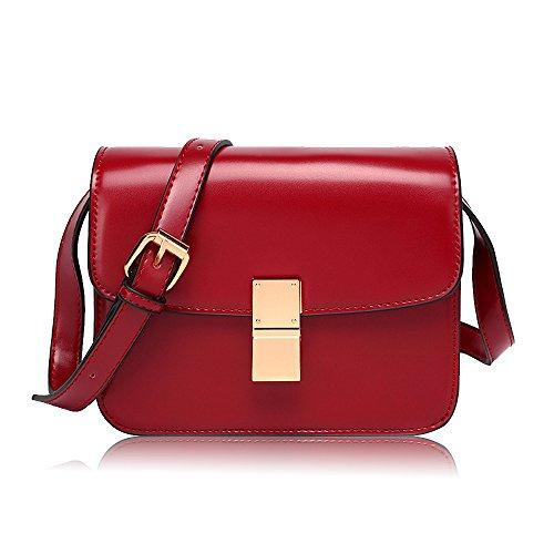 Crossbody Box Bag Purse Red Shoulder Olyphy for Bag Handbag Classic Designer Women Tofu Vintage 0q5xxtg