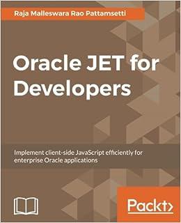 Oracle Jet For Developers por Raja Malleswara Rao Pattamsetti epub