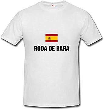 T-shirt Roda de bara White: Amazon.es: Ropa y accesorios