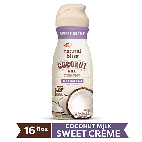 COFFEE MATE NATURAL BLISS Coconut Milk Sweet Crème All-Natural Liquid Coffee Creamer, 16 Fl. Oz. Bottle | Non-Dairy Creamer