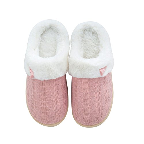 NineCiFun Women's Comfy Fuzzy Slippers Indoor Outdoor House