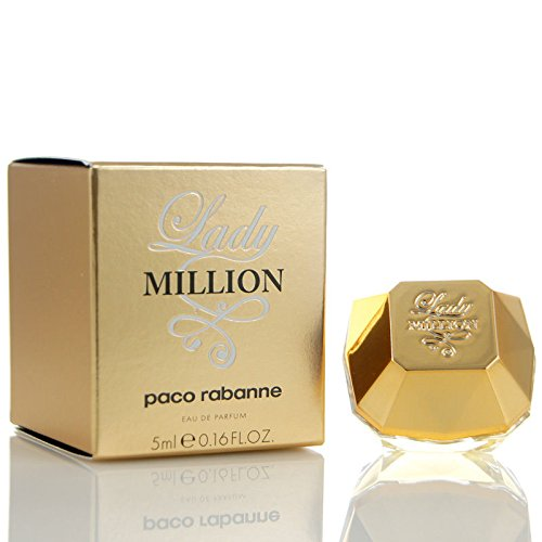Miniature Lady Million By Paco Rabanne 5ml / 0.16 Oz,edp Splash Mini Collectible