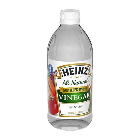 Heinz Distilled White Vinegar, 16 fl oz 3 Premium distilled white vinegar for all your recipe needs Sourced from sun-ripened corn All-Natural Ingredients