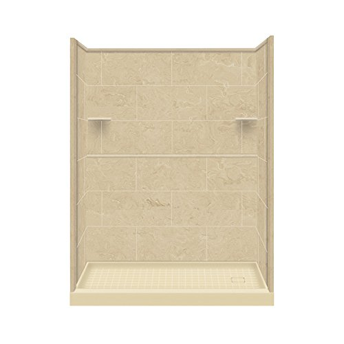 Transolid RKWF6027R-96 Remodel Alcove Shower Kit Right-Hand, 36-Inch L x 60-Inch W x 75-Inch,  Almond Sky