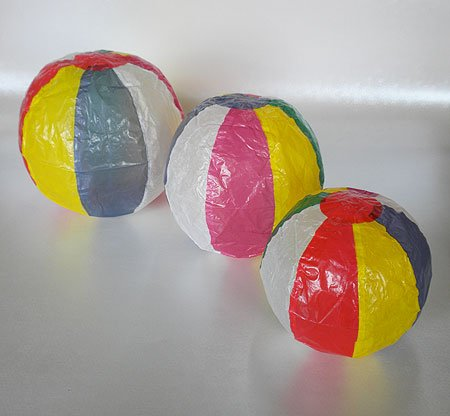 Paper Balloons- Set of Three Balls (Japanese Paper Ball)