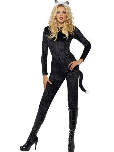 Costume Halloween Uk.Black Halloween Cat Costume For Women Amazon Co Uk Kitchen Home