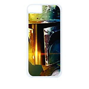 Star Wars Boba Fett Green Helmet White Tough Plastic Outer Case with Black Hard Lining for For Iphone 6 Plus Phone Case Cover (Double Layer Case with Silicone Protection), For Iphone 6 Plus Phone Case Cover Universal: Verizon - Sprint - Att - Great Affordable Gift!