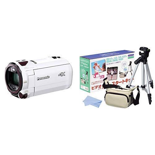 パナソニック 4K ビデオカメラ VZX990M 64GB あとから補正 ホワイト HC-VZX990M-W + HAKUBA 三脚 + カメラバック + クリーニングクロス 4点セット   B07PW1CWJL