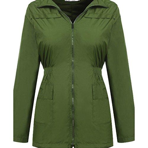 Jacket Windproof Yying Rain Jackets Waterproof Windbreaker Army Jacket Coats Coat Women Hooded Yellow Warm UxXzAxf