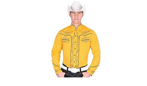 Cowboy Shirt Long Sleeve Montenegro Camisa Vaquera Color Yellow
