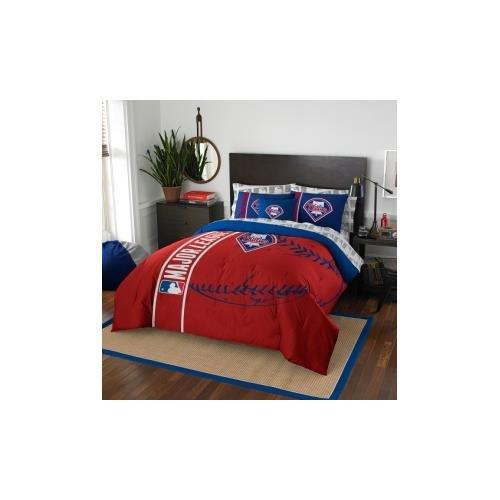 Cincinnati Reds Bedding (MLB Philadelphia Phillies Soft & Cozy 7-Piece Full Size Bed in a Bag Set)