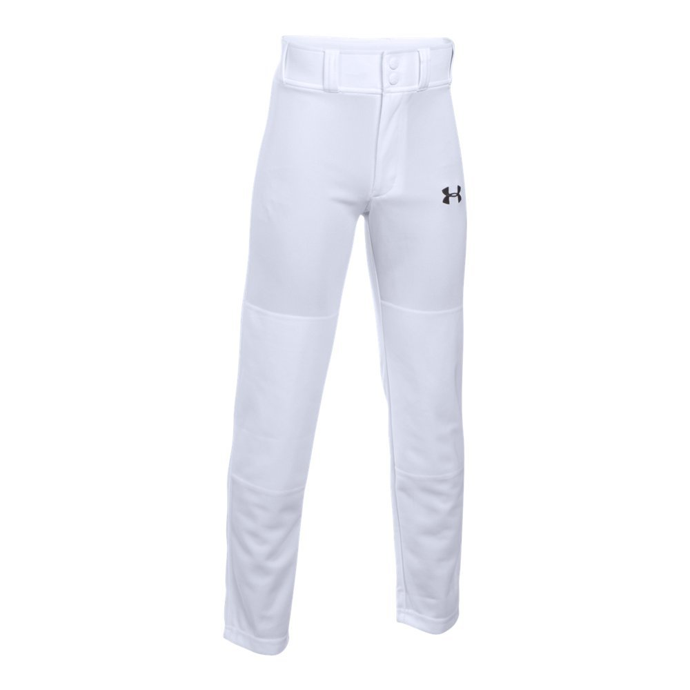 Under Armour Boys' Clean Up Baseball Pants, White, Youth X-Large by Under Armour