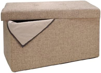 Simplify Linen Folding Storage Ottoman