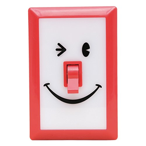 Time Concept SMiLE Soft LED Switch Light - Hibiscus - For Bedroom, Entryway, Battery-Operated