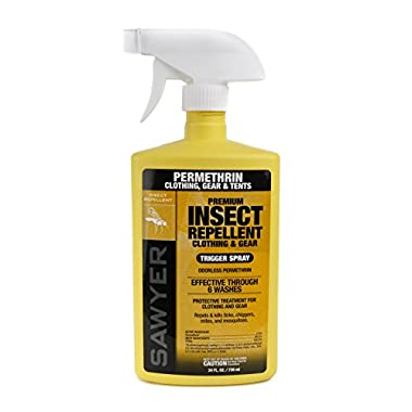 Sawyer Products SP657 Premium Permethrin Clothing Insect Repellent Trigger Spray, 24-Ounce (Spray Bottle Color May Vary)