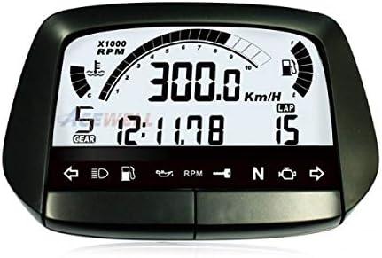 Motorcycle Multi Digital Instrument Black Speedometer Speed Temperature Gear Tank Display Auto