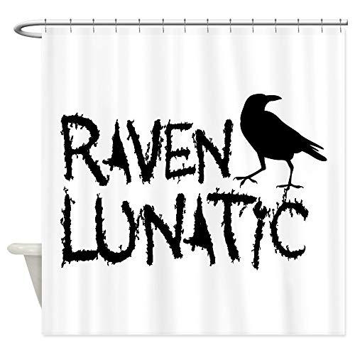 CafePress Raven Lunatic Halloween Decorative Fabric Shower Curtain -