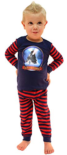 (The Polar Express Train Baby Pajamas Toddler Kids Pajama Set (3T) Navy)