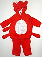 Carter's Halloween Costume Baby Crab Red Fleece 2 Pcs 6-9 Months NEW