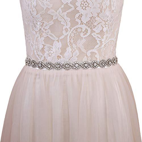 Azaleas Women's Wedding Belt Sashes Bridal Sash Belts for Wedding Dress (Ivory)