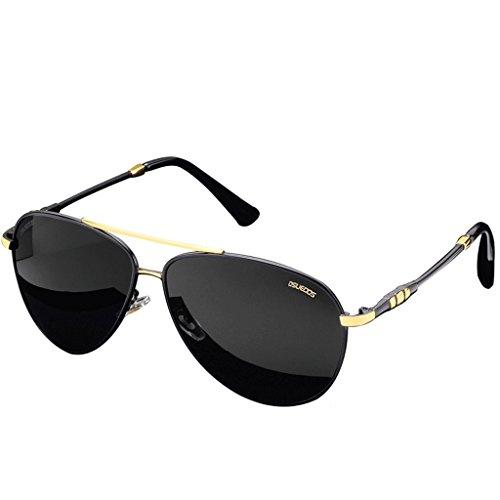 la protección Negras Gafas Vendimia polarizadas de Sol de Hombres la Sol de Gafas los la polarizadas Ocular los de de de Vendimia protección de la de HUACANG Ojos Wayfarer Gafas de Gafas Sol UV400 UPBqqg