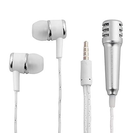 eDealMax Mini Protable auriculares Con micrófono de un auricular de tono de Plata w Mic Para