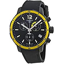 Tissot Black Dial SS Silicone Chronograph Quartz Men's Watch T0954493705700