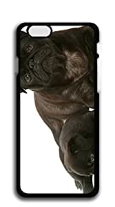 TUTU158600 Cute Cartoon Back Cover cell phone case iphone 6 - pug dog and puppy computer