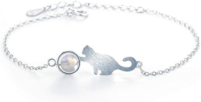 bracelet femme argent chat