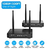 HDMI Wireless Extender, Ansten 328ft /100m Wireless AV Transmiiter and Receiver with Loop-Out Support 1080P@60Hz Full HD 3D IR Passback Transmit Video Audio HDMI Signal to HDTV/Project