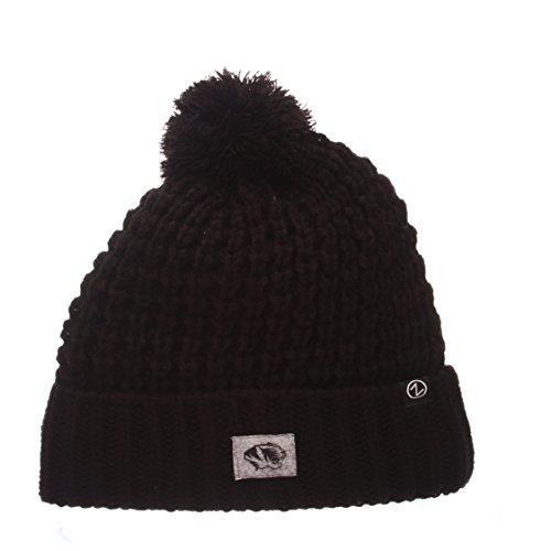 (ZHATS NCAA Missouri Tigers Cozy Women's Knit Hat, Adjustable, Team Color)