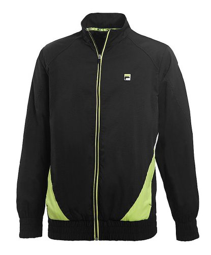 Fila Center Court Jacket, Black/Sharp Green/White, XX-Large ()