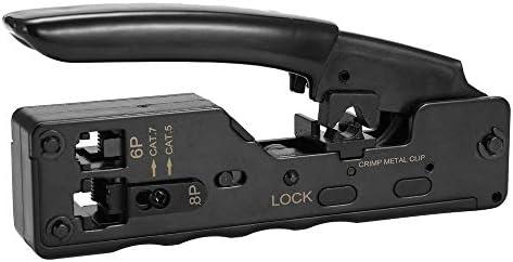 Benkeg HY-669 HY-669ポータブルイーサネットケーブル圧着工具専門端末圧着プライヤー多機能ハンドツールストリッパー切断メタルクリッププライヤーツール