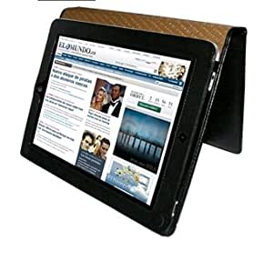 Piel Frama Premium Leather Case with MAGNETIC Closure for the Apple iPad (1st Generation) (Black Crocodile)