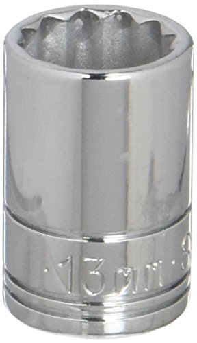 SK Hand Tool 2313S 12 Point 13mm Standard Drive Socket, 3/8-Inch, Chrome