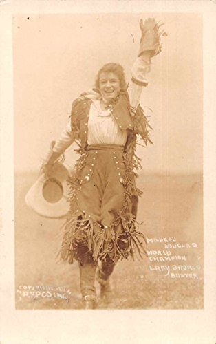 Mildred Douglas Cowgirl World Champion Lady Bronco Buster Real Photo PC J74375