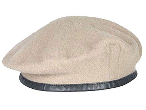 Diseño militar de pareja de boinas de alta calidad - British Made - 100% de la unidad de lana colores en todas las Khaki (SAS)