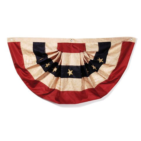 Bulk Buy: Darice DIY Crafts Tea Stained American Flag Bunting 25 x 48 inches (6-Pack) - American Diy Flag