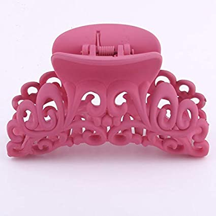 Women/'s Hairdress Scrub Plastic Hair Claw Clips Hollow Out Carving Crab Hairpin