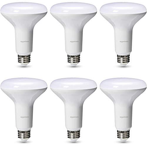 AmazonBasics 65 Watt 25,000 Hours Dimmable 700 Lumens LED Light Bulb - Pack of 6, Daylight ()