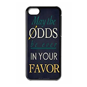XiFu*Meiipod touch 4 Case,May the Odds be Ever in Your Favor The Hunger Games Quotes Hard Shell Case For ipod touch 4 BlackXiFu*Mei
