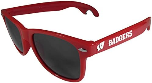 Red Siskiyou NCAA Unisex Beachfarer Bottle Opener Sunglasses