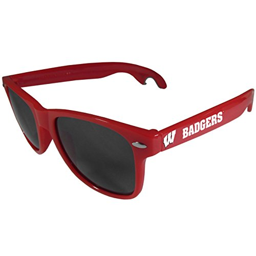 - Siskiyou NCAA Wisconsin Badgers Beachfarer Bottle Opener Sunglasses, Red