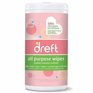 Nehemiah 1087 70C Dreft Multi Surface Wipes 70 Count - Pack Of 4