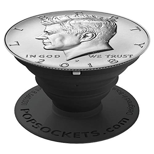 USA Half Dollar Kennedy Socket Perfect Gift Coin Collectors - PopSockets Grip and Stand for Phones and Tablets